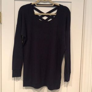Athleta Crossback Sweatshirt, Navy, Size Small